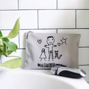 Personalised Children's Drawing Wash Bag