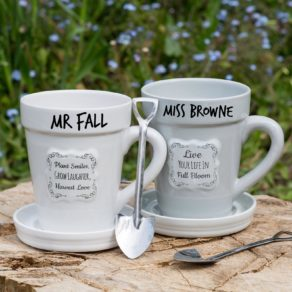 Personalised Flower Planter Set