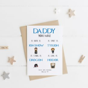 Personalised GOT Father's Day Card
