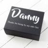 Black Personalised Groomsmen Box