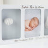 Personalised White Photo Frame & Clay Baby Print Casting Kit