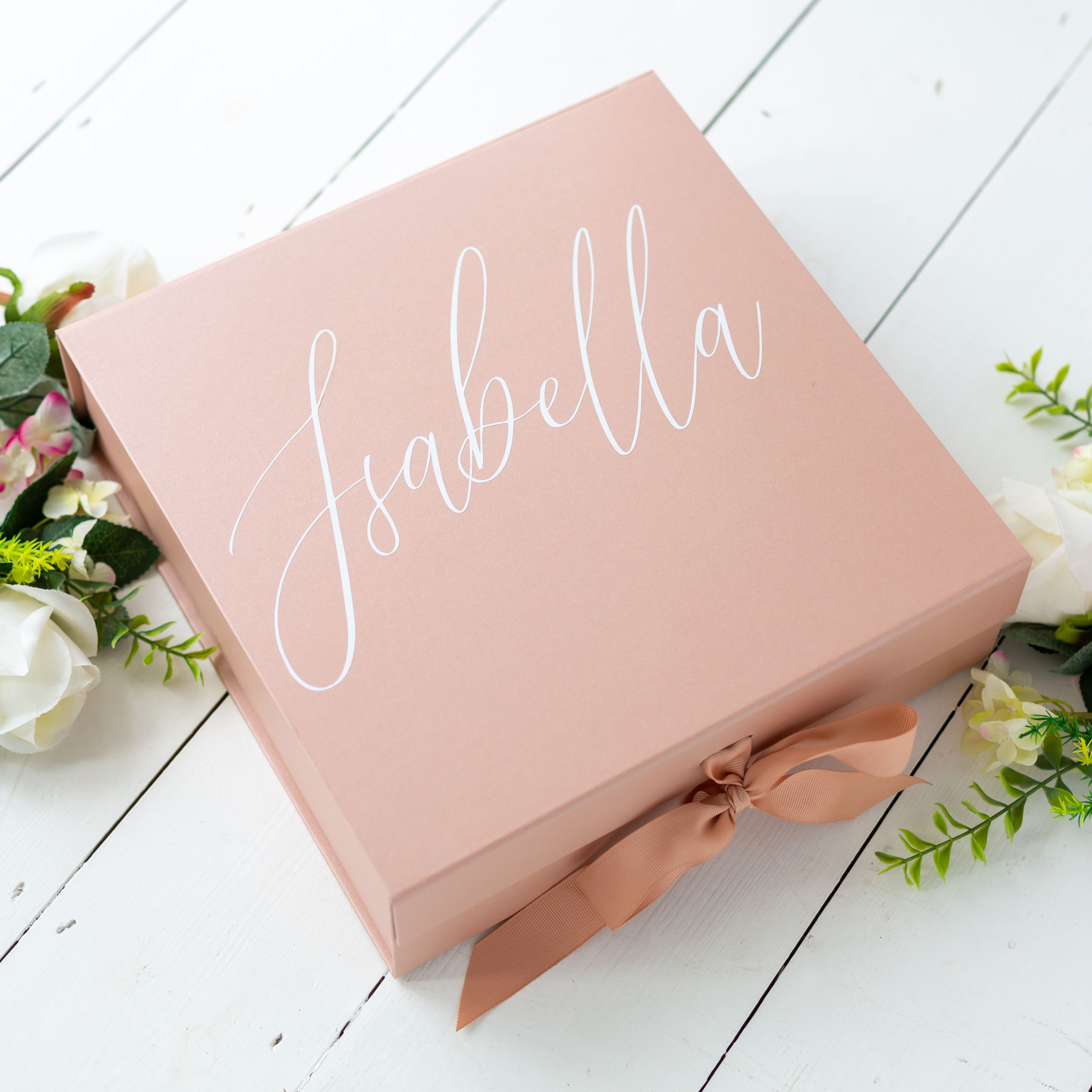 Rose Gold Personalised Bridesmaid Box
