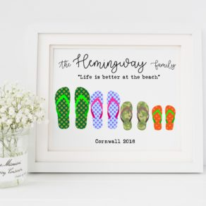Personalised Flip Flop Family Print