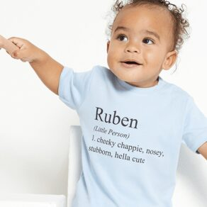 Personalised Baby Definition T-Shirt