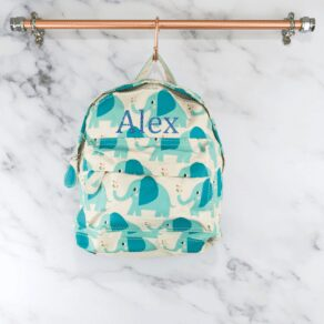 Personalised Kids Elephant Backpack Bag