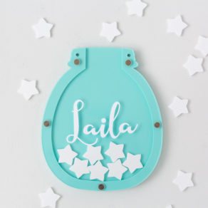 Personalised Turquoise Children's Reward Jar