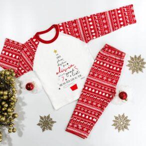 Personalised Christmas Dear Santa Pyjamas
