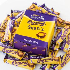 Personalised Cadbury Caramel Chocolate Bars x20