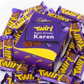 Personalised Cadbury Twirl Chocolate Bars x 20