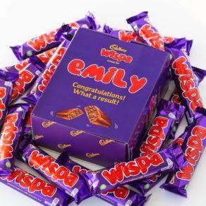 Personalised Cadbury Wispa Chocolate Bars x 20