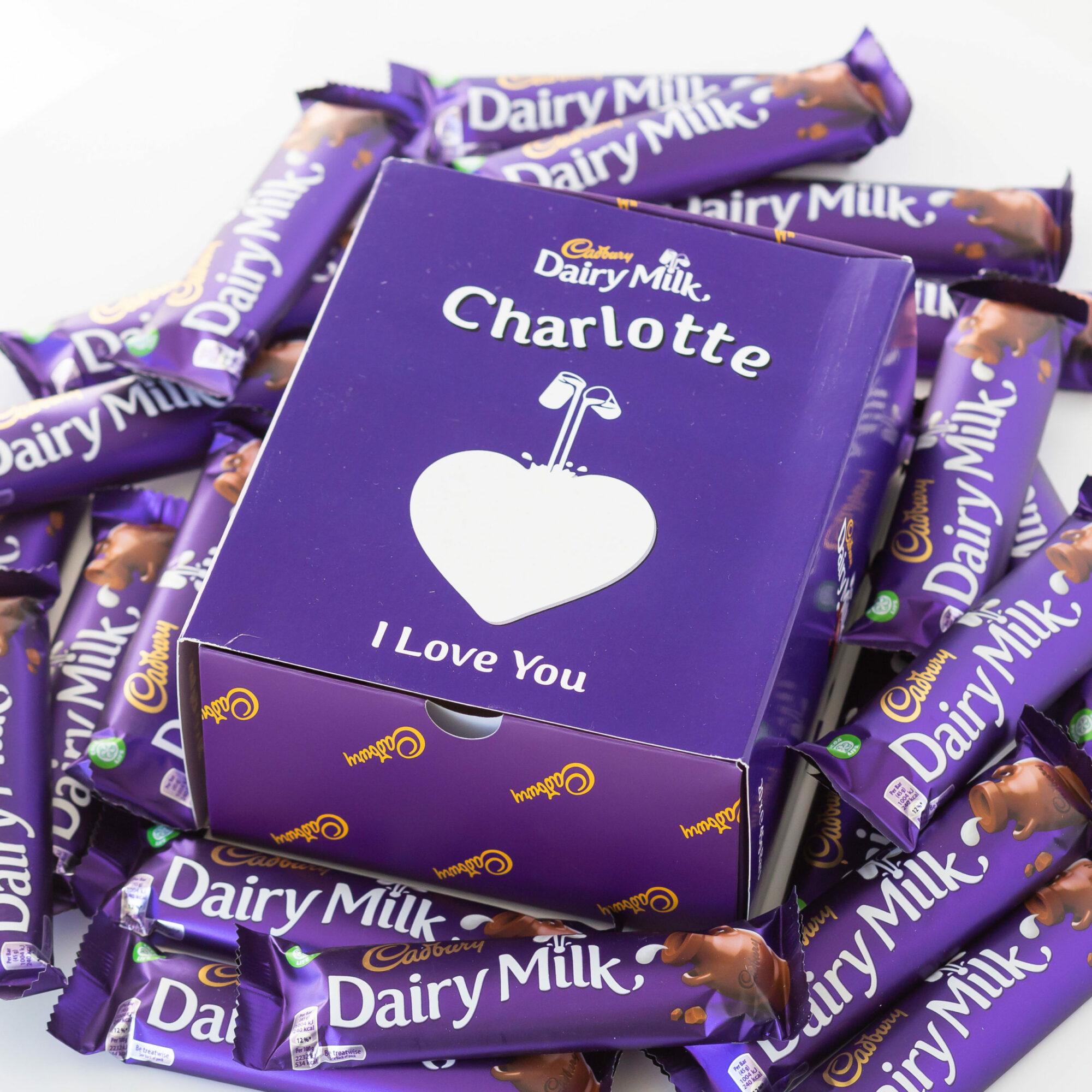 Personalised Cadbury Dairy Milk Bars x 20