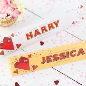 Personalised Valentine's Toblerone 360g Chocolate Bar