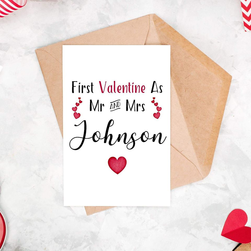 Personalised First Valentines Day Couple Card