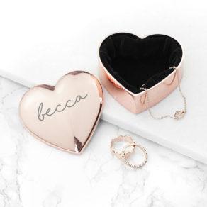 Personalised Metal Heart Trinket Box