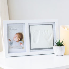 Personalised Baby White Hand & Foot Imprint Kit