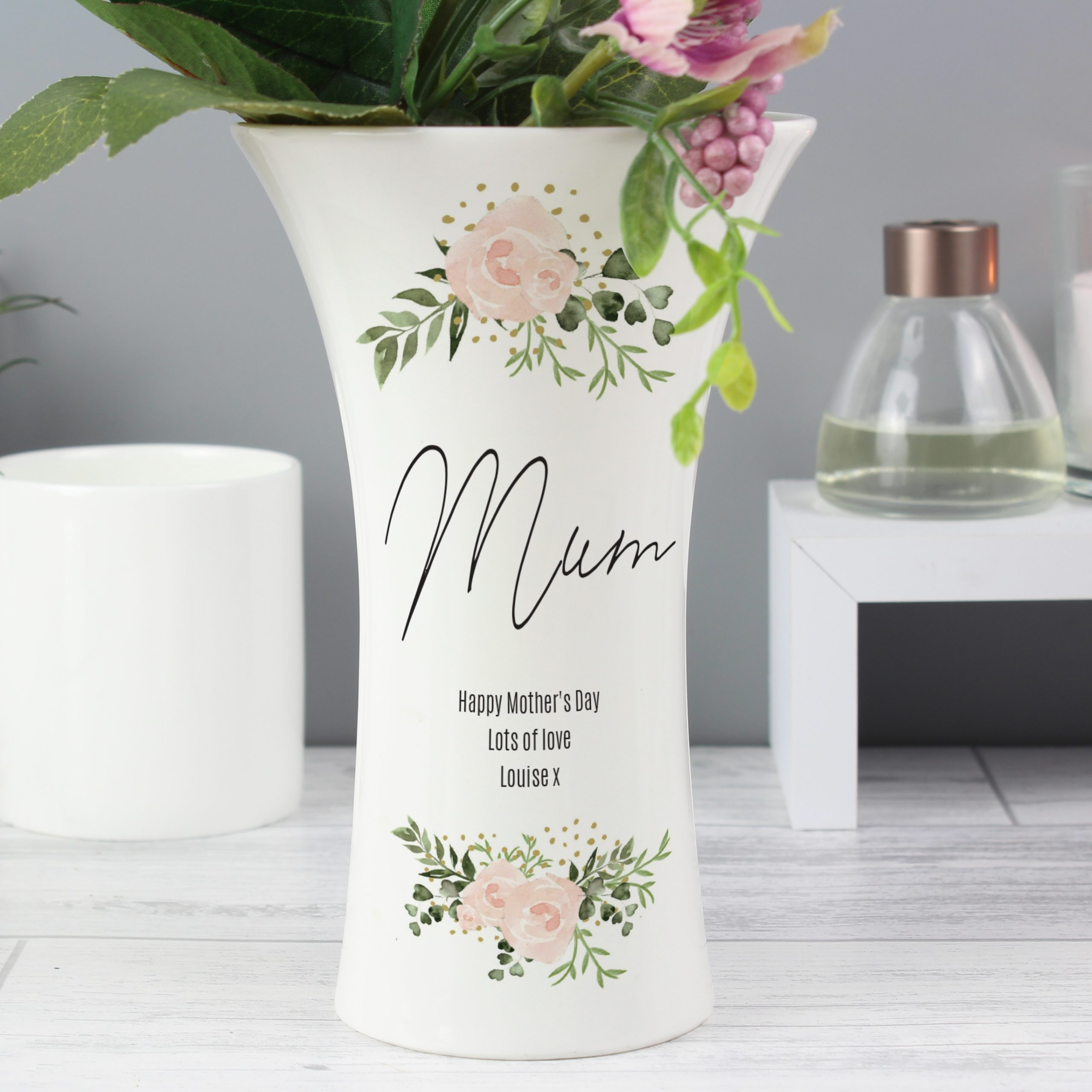 Personalised Ceramic Waisted Vase