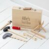 Personalised Kids Wooden Toolbox Toy Set