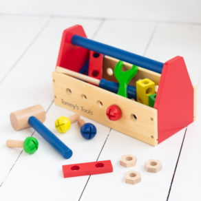 Personalised Kids Wooden Tool Crate Box