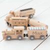 Personalised Kids Wooden Magnetic Train Set