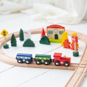 Personalised Kids Wooden Train Set