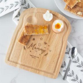 Personalised Wooden Breakfast Board