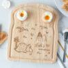 Personalised Triceratop Dinosaur Breakfast Board
