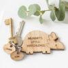 Personalised Wooden Family Dinosaur Keyring