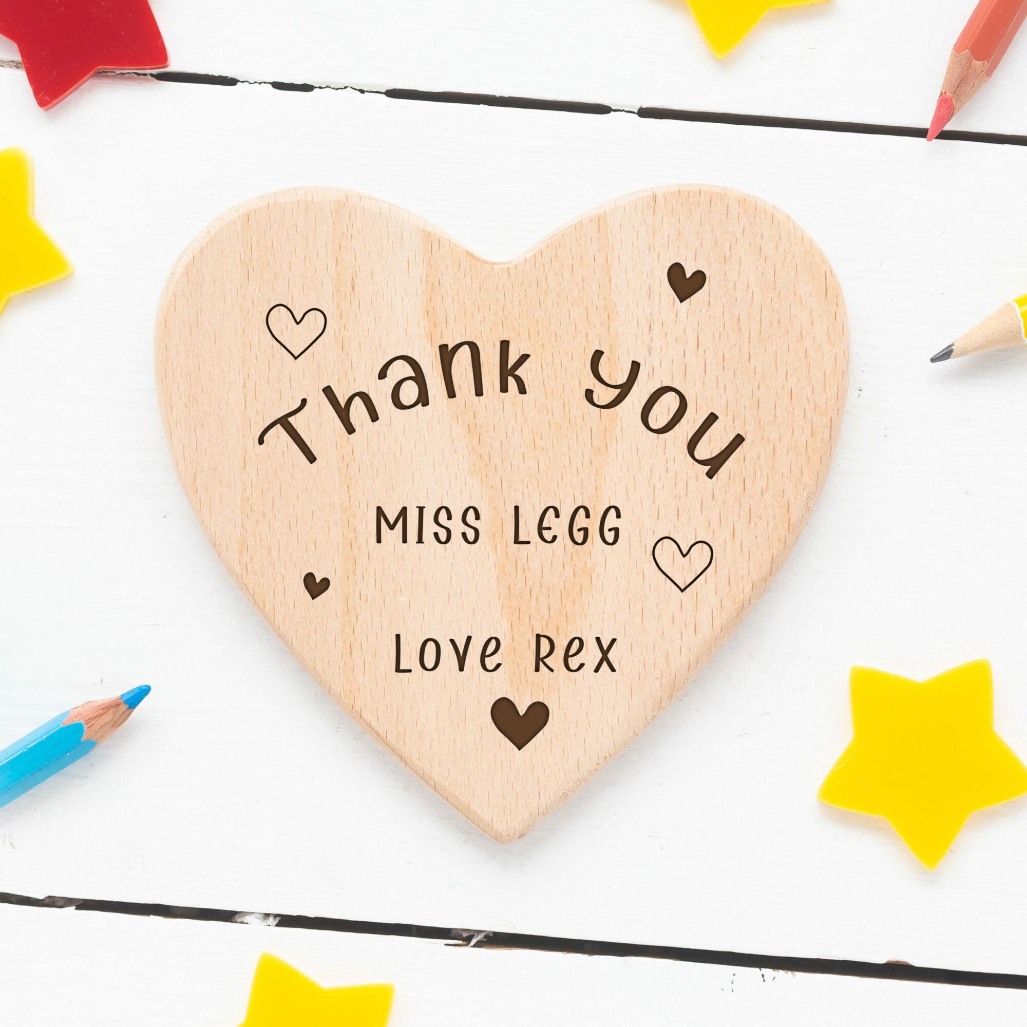Personalised Teacher Heart Coaster