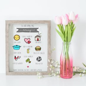 Personalised Mother's Day Icon Print