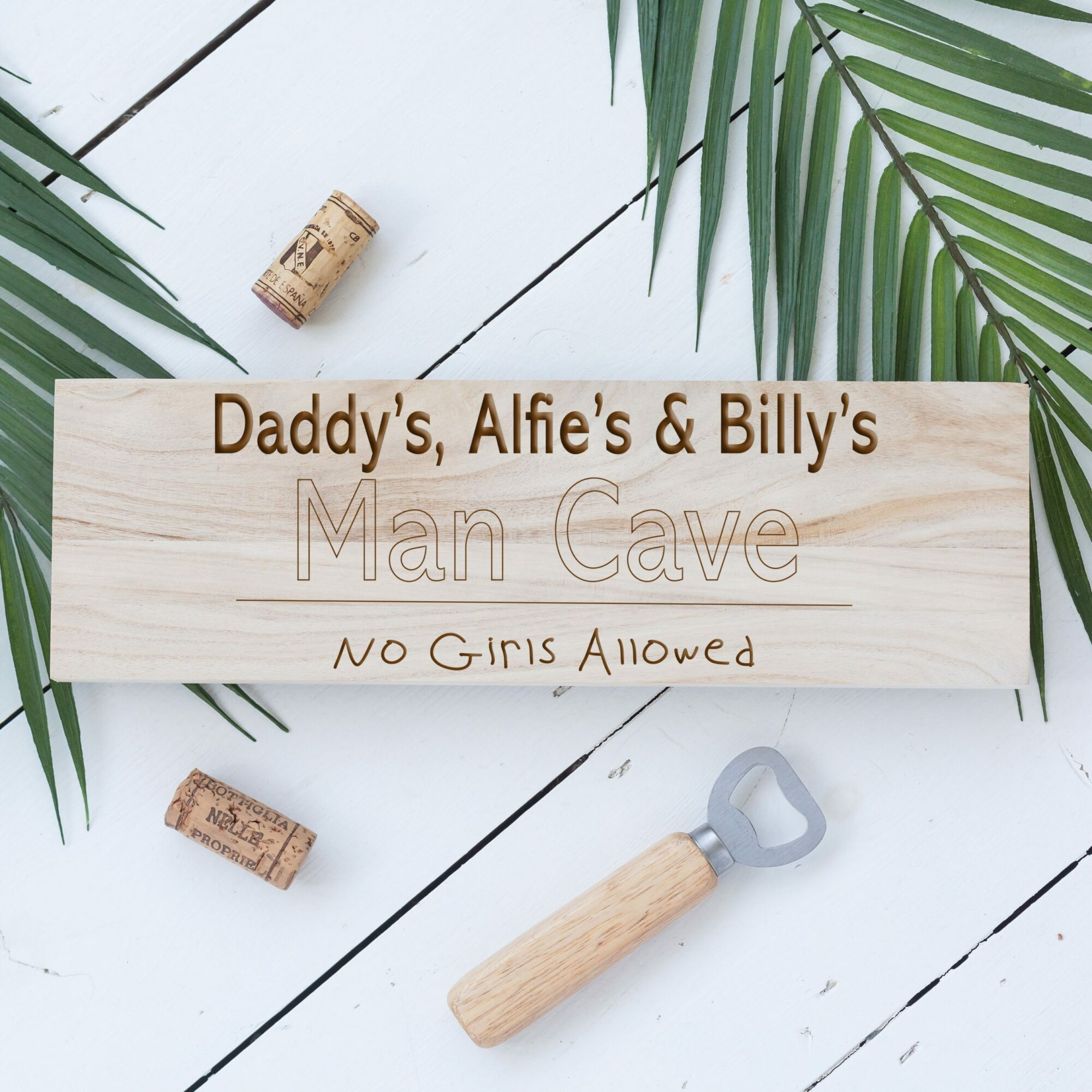 Personalised No Girls Allowed Man Cave Sign