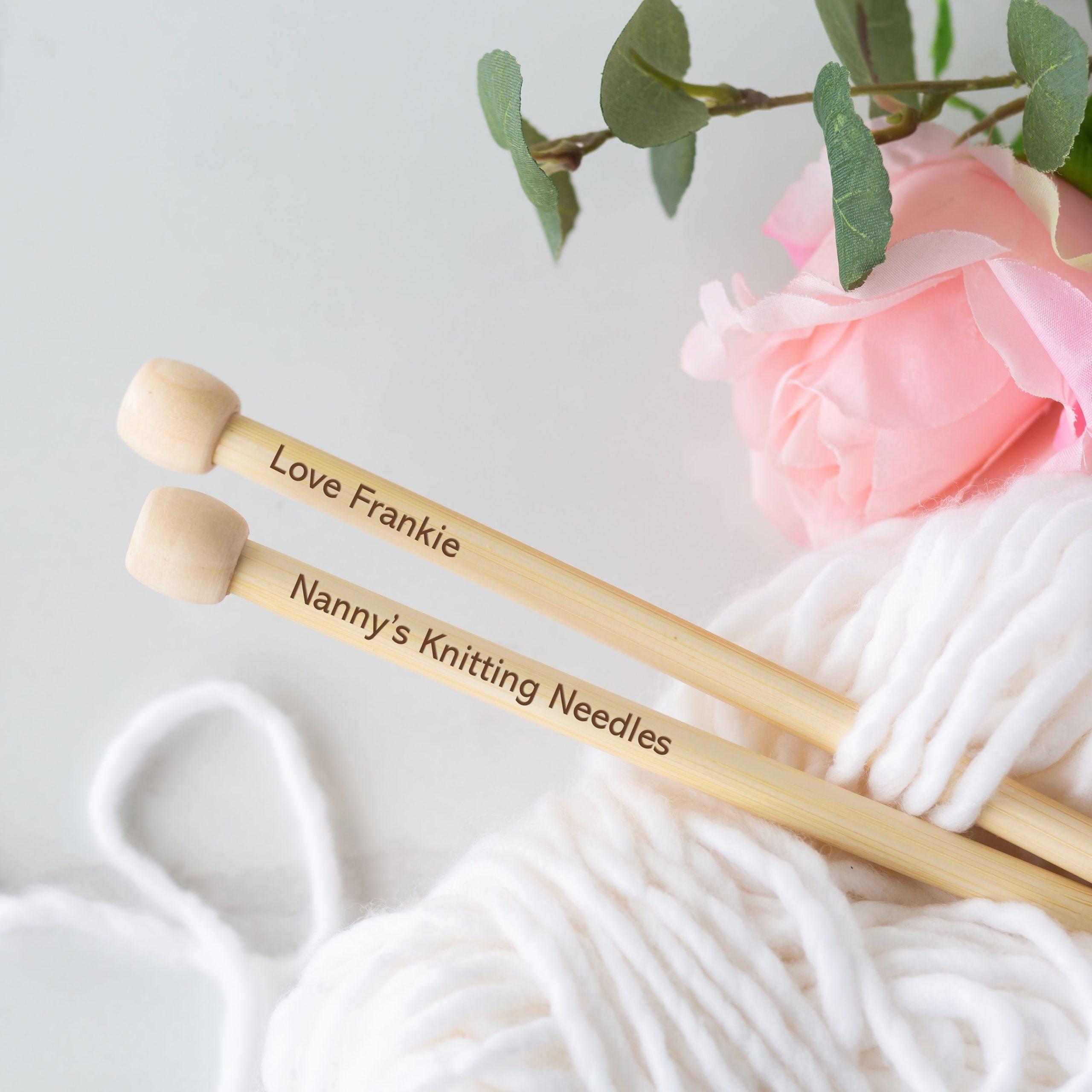 Personalised Bamboo Knitting Needles