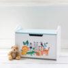 Personalised Safari Wooden Toy Box
