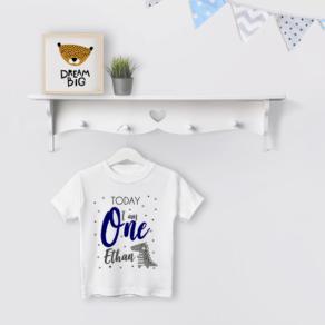 Personalised Boys 'Today I am ..' Dino Birthday T Shirt