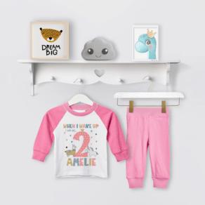 Personalised Llama Unicorn Birthday Eve Pyjamas