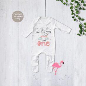 Personalised Unicorn Birthday Eve Babygrow