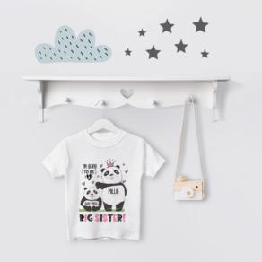 Personalised Big Sister to Be Panda T Shirt