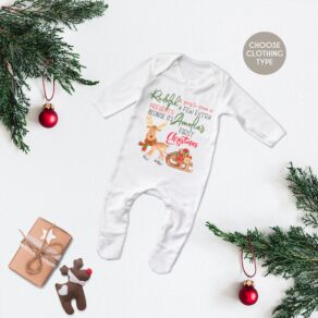 Personalised First Christmas Rudolph Babygrow