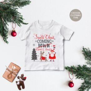 Personalised Santa Claus T Shirt / Babygrow