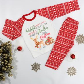 Personalised First Christmas Rudolph Pyjamas