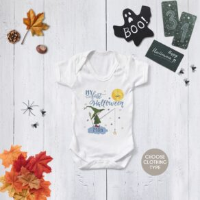 Personalised My First Halloween Cute Witch Babygrow / T Shirt