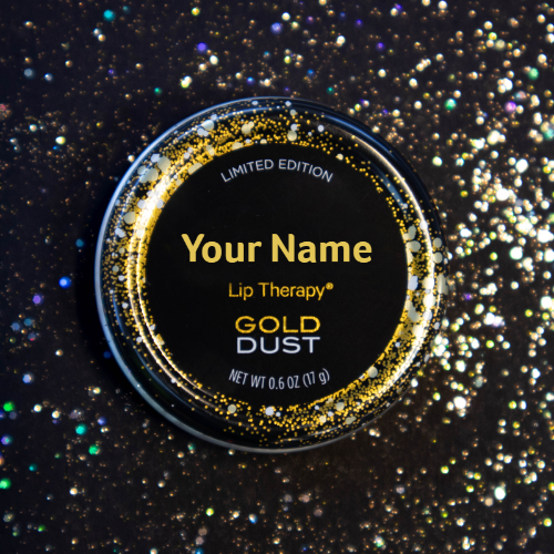 Limited Edition Personalised Gold Dust Vaseline Tin
