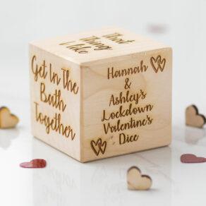 Personalised Valentine's Lockdown Fun Dice