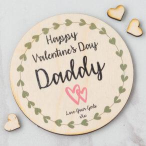 Personalised Valentine's Day Wooden Daddy Plaque