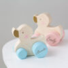 Personalised Kids Wooden Pink, Blue or White Push Duck Toy