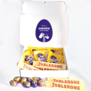 Personalised Mini Egg, Toblerone & Cadbury Chocolate Easter Hamper
