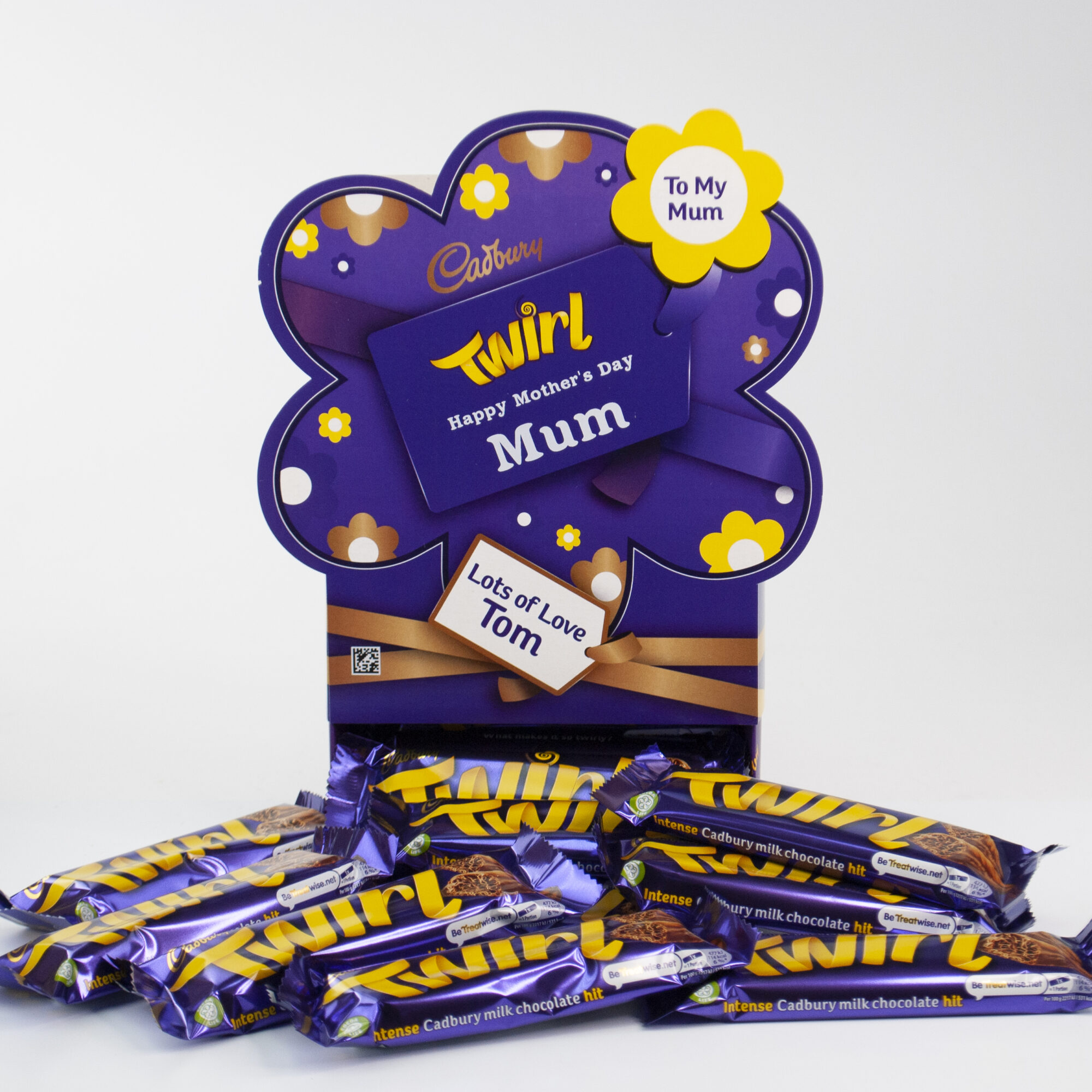 Personalised Mother's Day Cadbury Twirl Chocolate Bars x 20