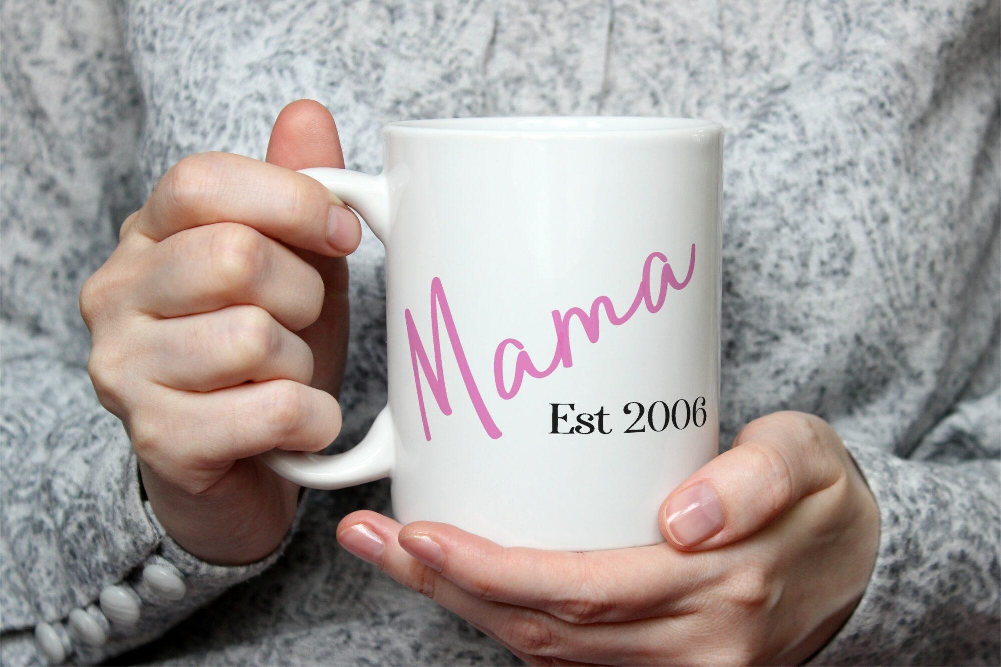 Personalised Mama Est Mug