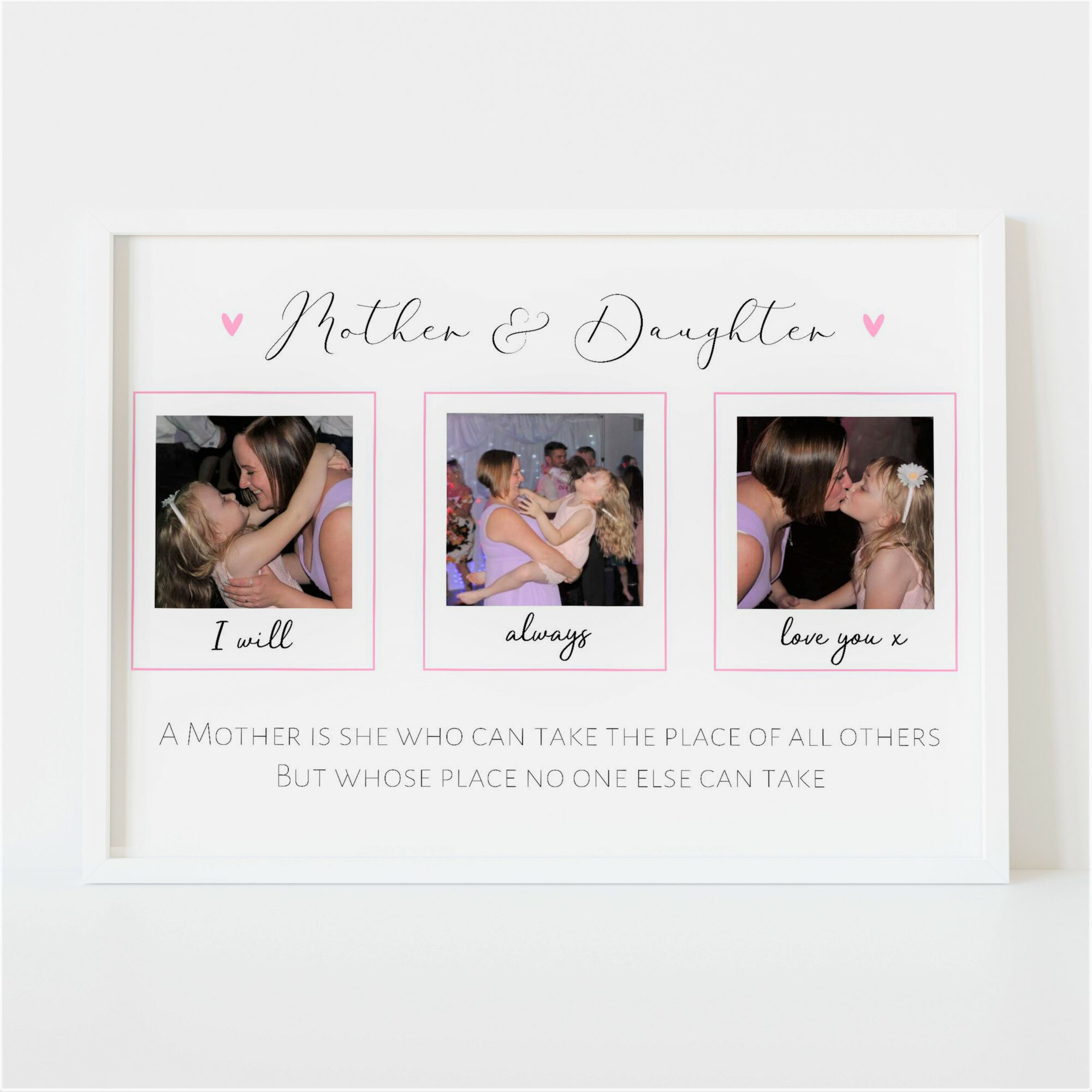 Personalised Mother and Daughter Photo Print