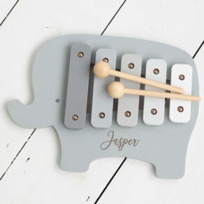 Personalised Kids Wooden Elephant Xylophone Toy