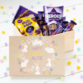 Personalised Wooden Easter Treat Box